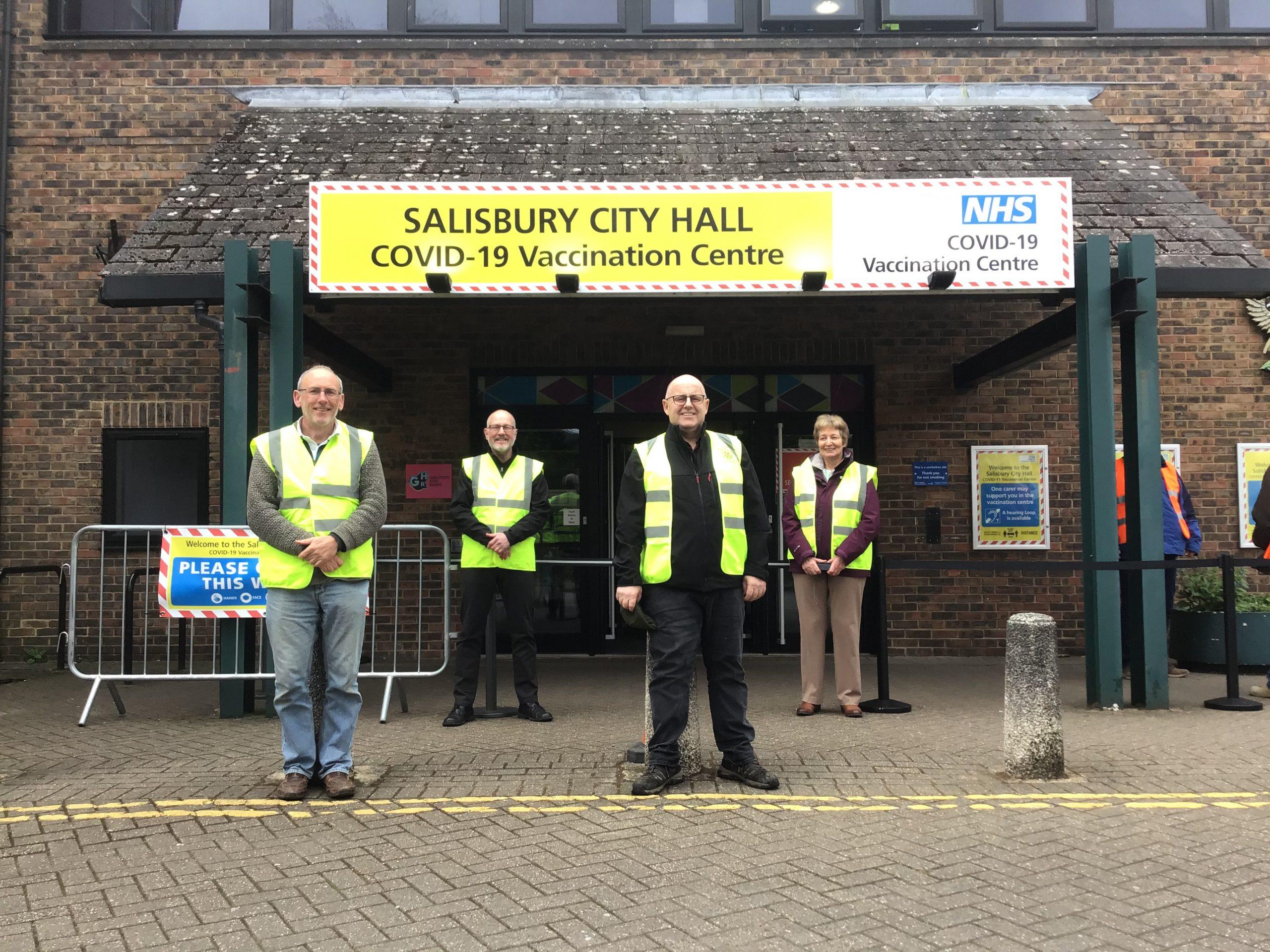 Sarum-Rotary-Volunteers-For-COVID-19-Vaccination-Centre-City-Hall-Salisbury